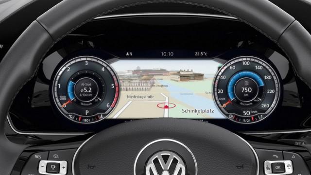 2015 yeni VW Passat dijital gösterge tablosu detay videosu